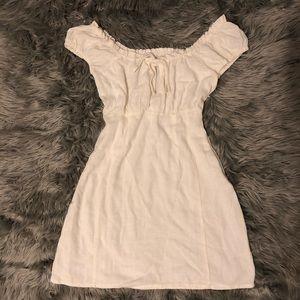 Off the shoulder milk made  dress